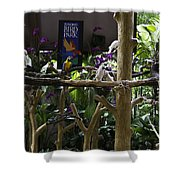 Colorful Macaw And Other Birds At The Jurong Bird Park In Singapore Shower Curtain
