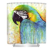 Macaw Painting Shower Curtain
