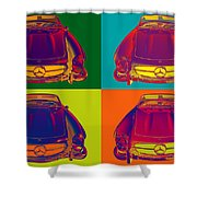 Colorful Mercedes Benz 300 Sl Convertible Popart Shower Curtain