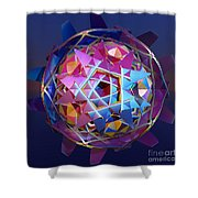 Colorful Metallic Orb Shower Curtain