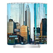 Colorful Minneapolis  Shower Curtain