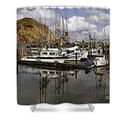 Colorful Morning Harbor Shower Curtain