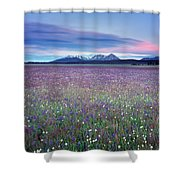 Colorful Mountain Spring Shower Curtain