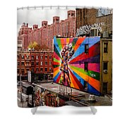 Colorful Mural Chelsea New York City Shower Curtain