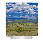 Colorful Nature Od Lika Region Shower Curtain