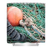 Colorful Nautical Rope Shower Curtain
