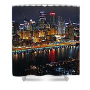 Colorful Night Shower Curtain