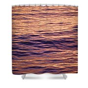 Colorful Ocean Water At Sunset Shower Curtain