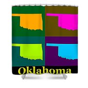 Colorful Oklahoma State Pop Art Map Shower Curtain