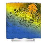 Colorful Old Bleach Linen Ad Shower Curtain