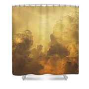 Colorful Orange Yellow Storm Clouds At Sunset  Shower Curtain