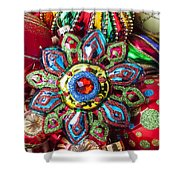 Colorful Ornaments Shower Curtain