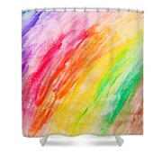 Colorful Painting Pattern Shower Curtain
