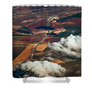 Colorful Patchwork Of Andalusian Fields 1. Spain Shower Curtain