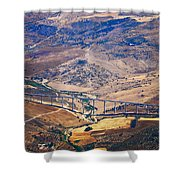 Colorful Patchwork Of Andalusian Fields. Spain Shower Curtain
