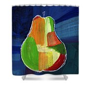 Colorful Pear- Abstract Painting Shower Curtain