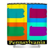 Colorful Pennsylvania Pop Art Map Shower Curtain