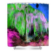 Colorful Phosphorescent Cave Shower Curtain
