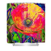Colorful Poppy Shower Curtain