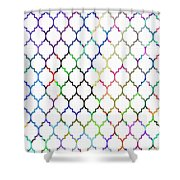 Colorful Quatrefoil Shower Curtain