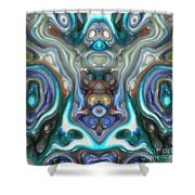 Colorful Reflections Of Glass Shower Curtain