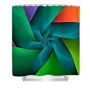 Colorful Ribbons Shower Curtain