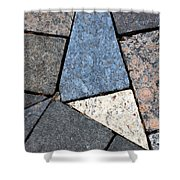 Colorful Rock Pavers Shower Curtain