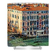 Colorful Rotten Palace In Venice Italy  Shower Curtain