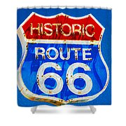 Colorful Route 66 Shower Curtain