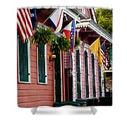 Colorful Row Houses Shower Curtain