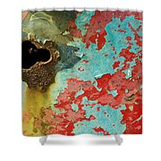 Colorful Rusty Door Shower Curtain