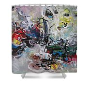 Colorful Seascape Abstract Landscape Shower Curtain