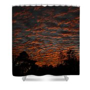 Colorful Sky Number 7 Shower Curtain