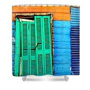 Colorful Slum Shower Curtain