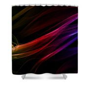 Colorful Smoke Composition Shower Curtain