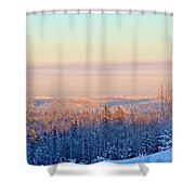 Colorful Snow Valley Shower Curtain