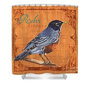 Colorful Songbirds 2 Shower Curtain by Debbie DeWitt