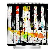 Colorful Sound Shower Curtain