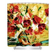 Colorful Spring Bouquet - Abstract  Shower Curtain