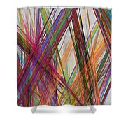 Colorful Straight Line Fractal Flame Shower Curtain