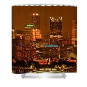 Colorful Summer Night In Pittsburgh Shower Curtain