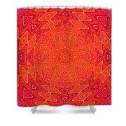Colorful Sun Mandala Shower Curtain