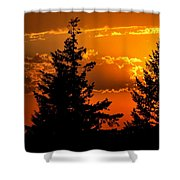 Colorful Sunset II Shower Curtain