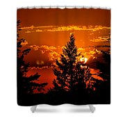 Colorful Sunset IIl Shower Curtain