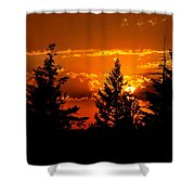 Colorful Sunset Shower Curtain