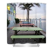 Colorful Tables Shower Curtain