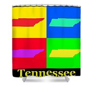 Colorful Tennessee Pop Art Map Shower Curtain