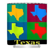Colorful Texas Pop Art Map Shower Curtain