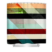 Colorful Textured Abstract Shower Curtain
