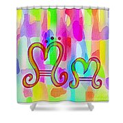 Colorful Texturized Alphabet Mm Shower Curtain